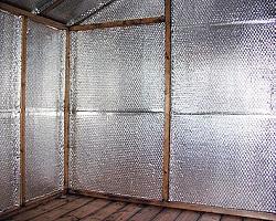 Пример теплоизоляции небольшого помещения фольгированным утеплителем