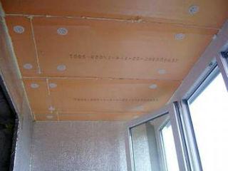 Потолок утепленный пенополистирольными плитами