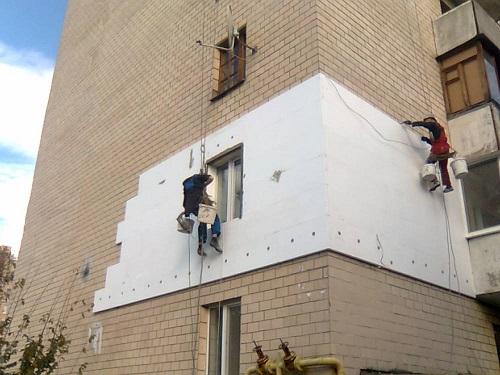 Утепление фасада квартиры пенопластом