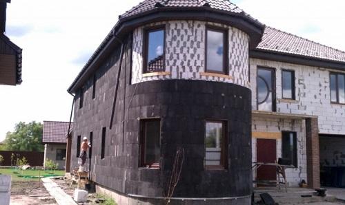Утепление фасада частного дома пеностеклом