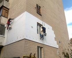 Процесс утепления фасада квартиры с помощью пенопласта