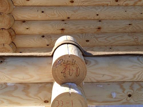 Использование ленты джгута для теплоизоляции бруса