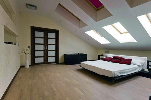 Пример использования мансардного этажа