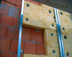 Утепление наружных стен по алюминиевому каркасу