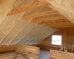 Крыша, утепленная изнутри с помощью ППУ