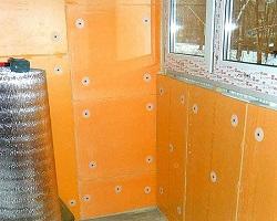 Балкон, утепленный с помощью Пеноплекса изнутри