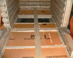 Утепление пола пеноплексом в деревянном доме, по лагам
