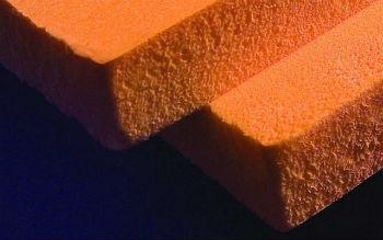 Пример структуры пеноплекса, поры в нем практически не различить