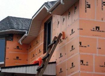 Утепление пеноплексом фасада дома