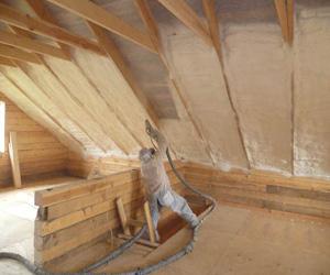 Установка теплоизоляции под крышу