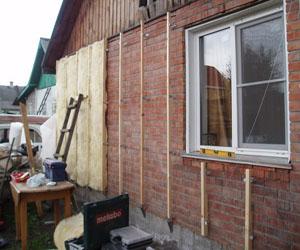 Проведения теплоизоляции кирпичного дома под сайдинг