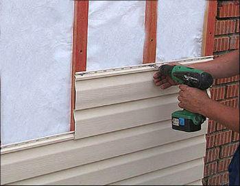 Монтаж финишного покрытия вентилируемого фасада