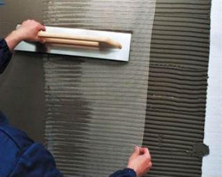 Оштукатуривание фасада с помощью сетки
