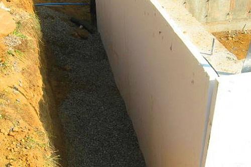Облицовка ленточного фундамента полистирольными плитами