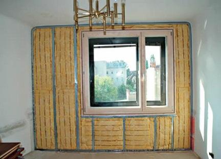 Утепление стены квартиры минватой изнутри