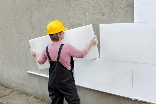 Утепление наружных стен с помощью пенопласта