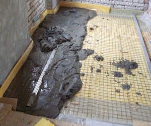 Заливка бетона для утепления пола