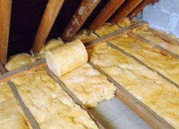 Применение рулонов минваты для наружного утепления потолка