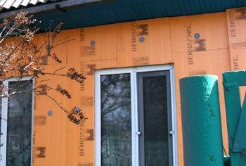 Утепление стен деревянного дома пеноплексом