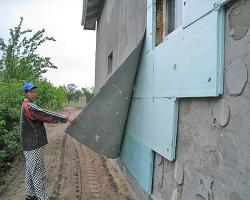 Двухслойное утепление наружной стены дома