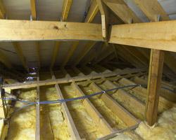 Утепление потолка теплоизоляционными материалами