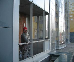 """Утепление здания способом """"двойного контура"""""""