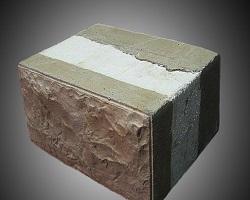 Стеновой блок с утеплителем и сайдингом