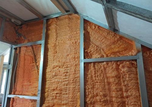 Теплоизоляция стен мансарды Полинором