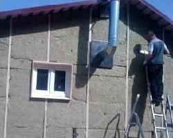 Процесс утепления стен бани снаружи