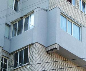Утепление здания пенопластом