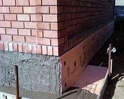 Теплоизоляция отмостки и цоколя кирпичного дома