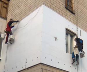 Изоляция пеноплексом стены здания
