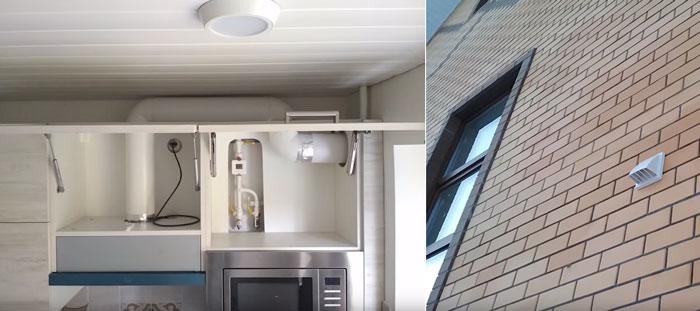 вывод воздуховода от вытяжки на улицу через стену