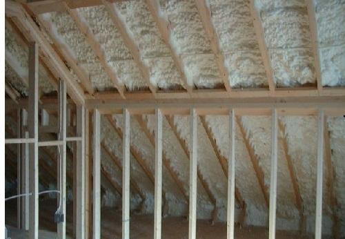 Утепление чердака деревянного дома пеноизолем