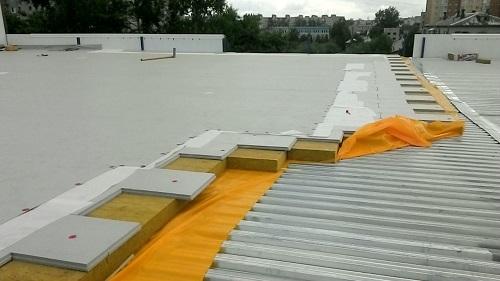 Пример теплоизоляции крыши посредством минваты Технониколь
