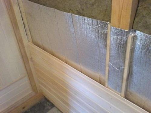 Утепление стен посредством базальтовой ваты