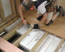 Процесс утепления бетонного пола с помощью пенополистирола