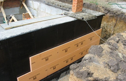 Теплоизоляция фундамента плитами экструдированного полистирола