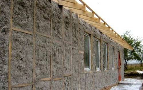 Стены веранды утепленные шлаковатой