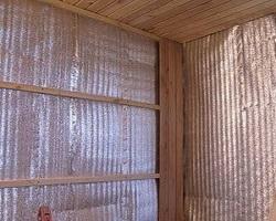 Теплоизоляция стен бани фольгированным утеплителем