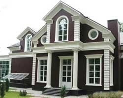 Утепленный пенопластом фасадный декор