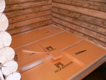 Утепление пола в деревянном доме пеноплексом