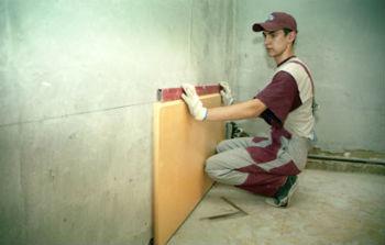 Монтаж пеноплекса на стену с помощью клея