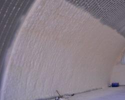 Стена ангара, утепленная полиуретаном