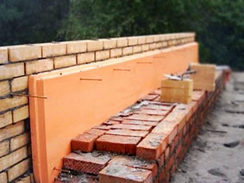 Утепление пеноплексом полых кирпичных стен