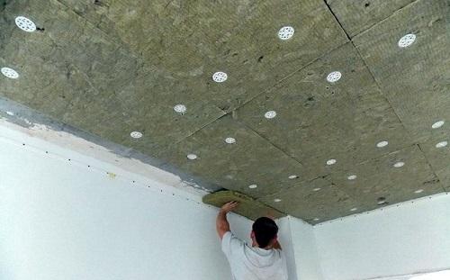 Звукоизоляция потолка плитами Акустик Баттс 100