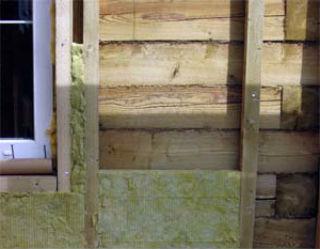 Утепление деревянных стен минеральной ватой