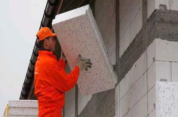 Монтаж плит пенопласта для утепления дома из газобетона