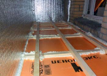 Теплоизоляция из пеноплекса на балконе