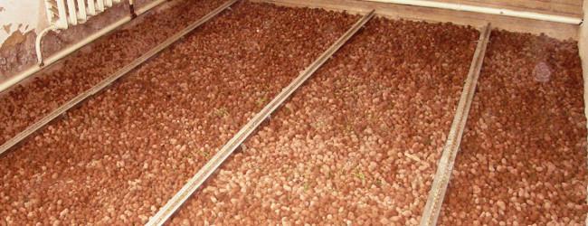 Теплоизоляция лагового пола керамзитом